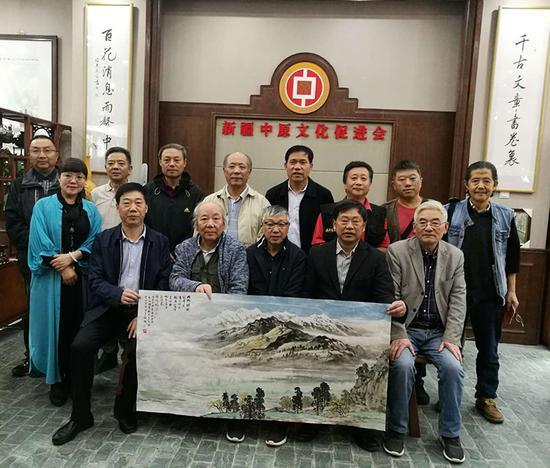 四川省政府文史馆采风团到新疆中原文化促进会考察交流