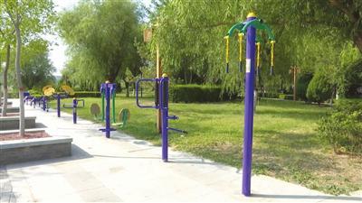 海宝公园新更换的健身器材。