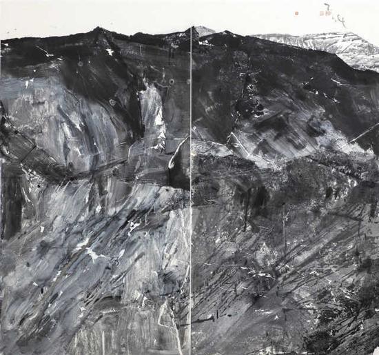 朱盡暉《絲路冰川》180cm×195cm