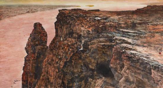 王西京《天下黃河》120cm×220cm