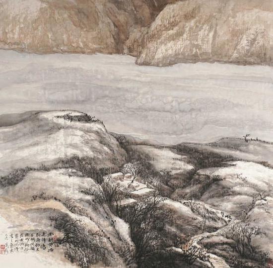 萬鼎《冰封黃河》96cm×96cm