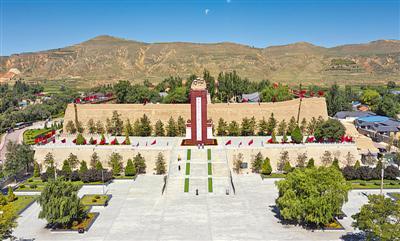 """<p>  西吉县将台堡红军长征纪念园。 1935年10月,中央红军长征途经西吉县,毛泽东与宗教人士促膝夜谈,留下了""""单家集夜话""""的佳话。本报记者 党硕 摄 </p>"""