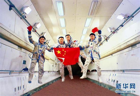 """影像记录中国航天员""""天团"""""""