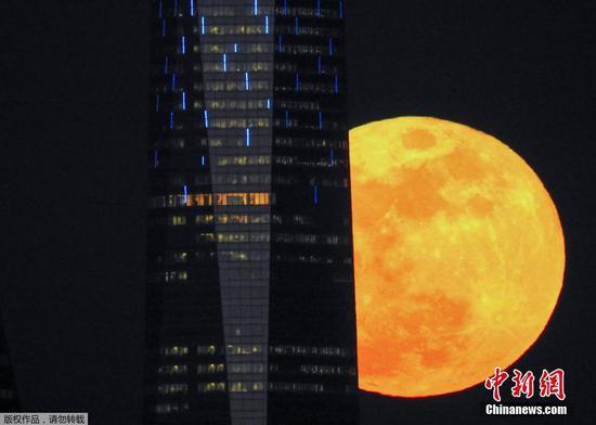 """全球多视角 带你去世界各地看""""蓝血""""月全食"""