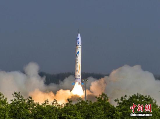 中國首枚民營自研商業亞軌道火箭首飛成功