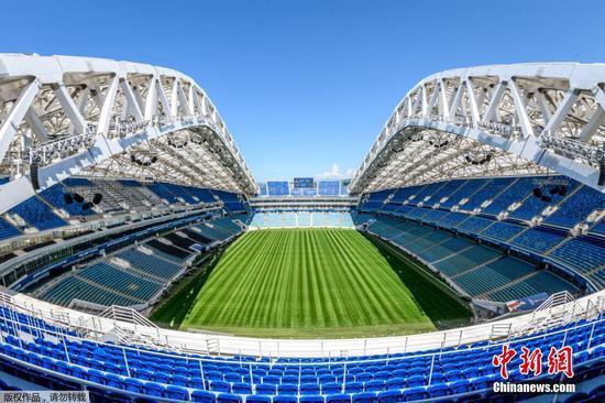 俄罗斯世界杯前夕 走进菲什特奥林匹克体育场