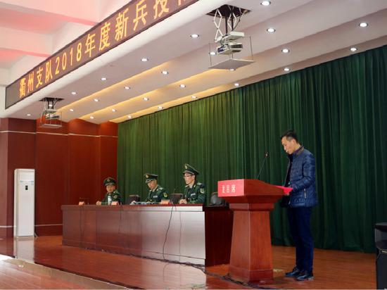 家长代表发言。吴光富 摄