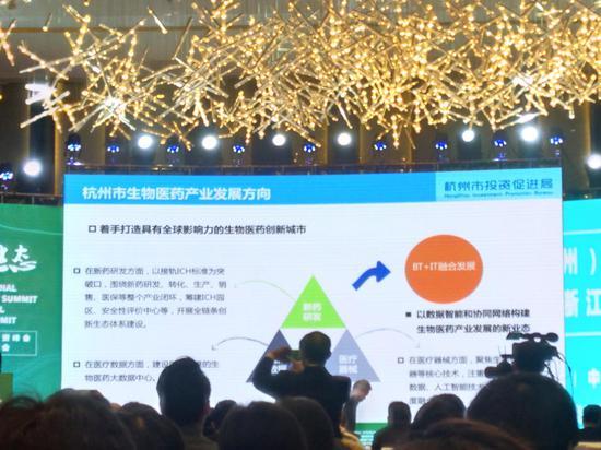 第四届浙江国际健康产业领袖峰会现场。施杭 摄