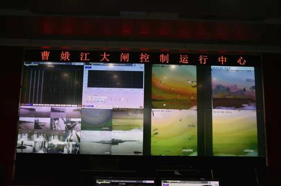 图为:曹娥江大闸控制运行中心。 范宇斌 摄
