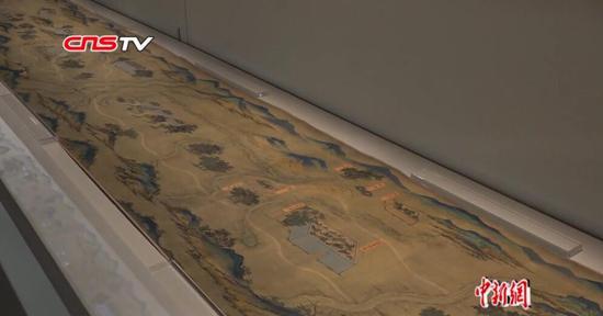 《丝路山水地图》首次全幅展出 沿途211个城市尽收眼底