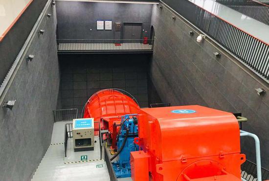 杭州三堡排涝工程有关设备。张斌 摄