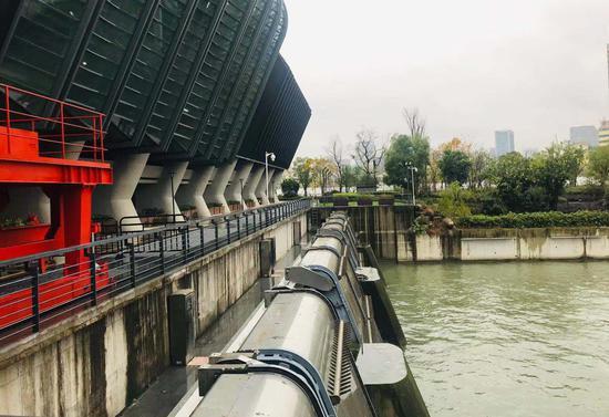 杭州三堡排涝工程。张斌 摄