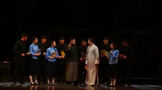 再现建党精神 浙传上演音乐剧《红船往事》