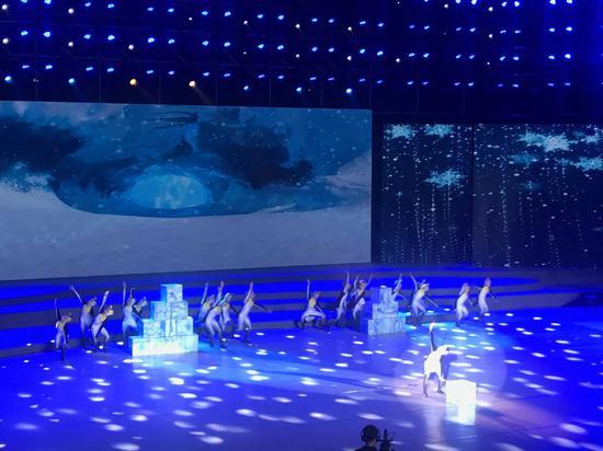 舞蹈《快乐的企鹅》表演。 王题题 摄