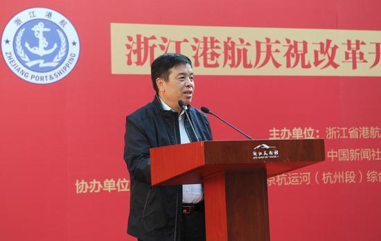 浙江省交通运输厅党组成员、副厅长任忠致辞。李晨韵 摄