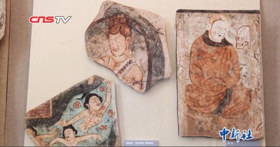 百幅流失海外克孜尔石窟壁画及洞窟复原影像在兰州展出