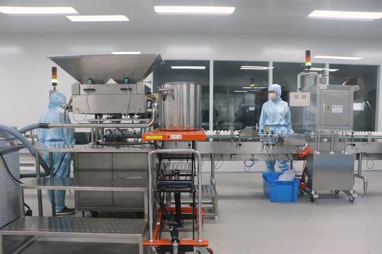 浙江医药自动化生产线。钱晨菲摄