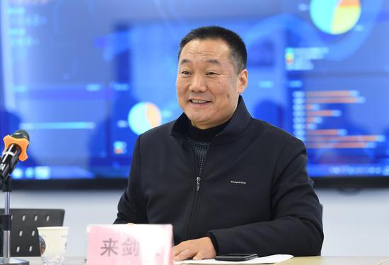 图为:杭州市上城区委常委、统战部长来剑波在发言。 王刚 摄
