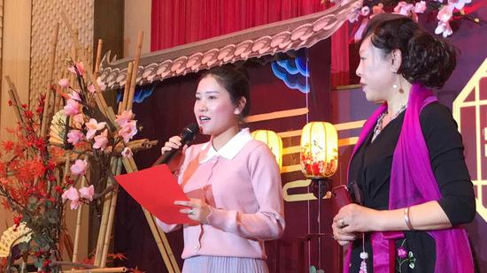 子女代表发言  杨洋 摄