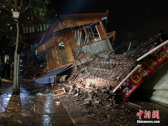 广西龙脊梯田景区发生山体崩塌