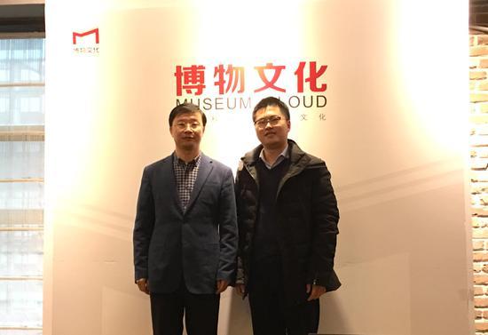 斯荣喜(左)与张敏(右)合影。 童笑雨 摄