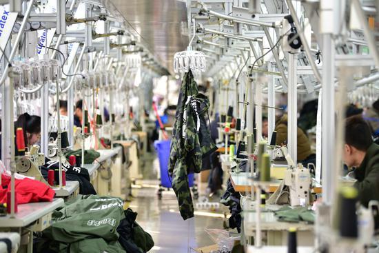 童装生产企业。织里宣传中心供图