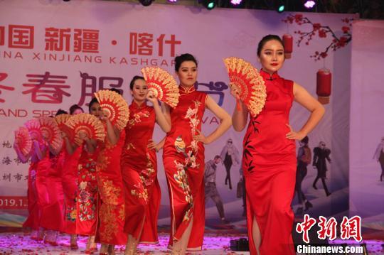 新疆喀什举办丝路文化冬春服装节