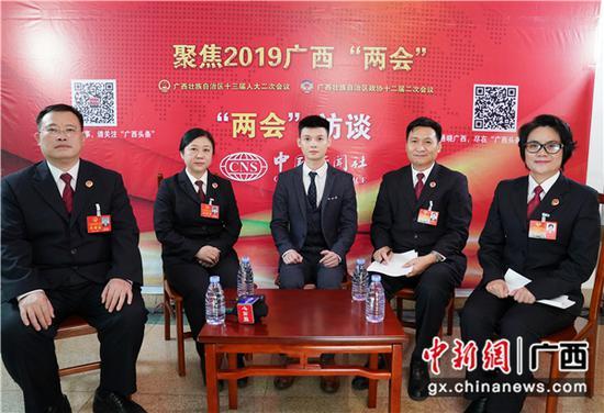 1月29日,广西检察机关的代表委员接受中新社专访。  陈冠言 摄