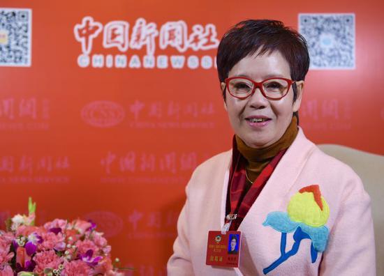 浙江省政协委员、华策影视集团创始人赵依芳。 李晨韵 摄