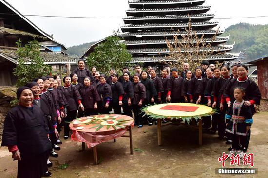 """广西侗族民众举办""""逃荒文化节""""喜庆脱贫"""