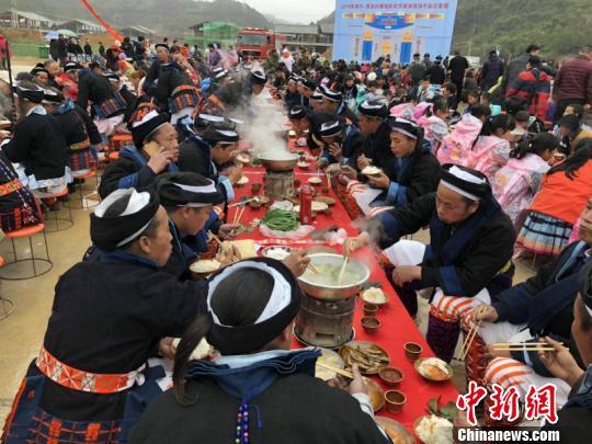 2019南丹·荔波白裤瑶年街节活动开幕