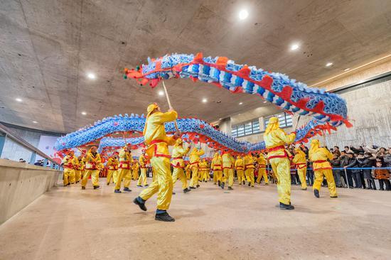 杭州富陽博物館里鬧元宵。富宣 供圖