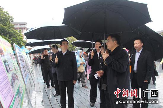 与会嘉宾了解上林县禁毒工作开展情况。陶云 摄