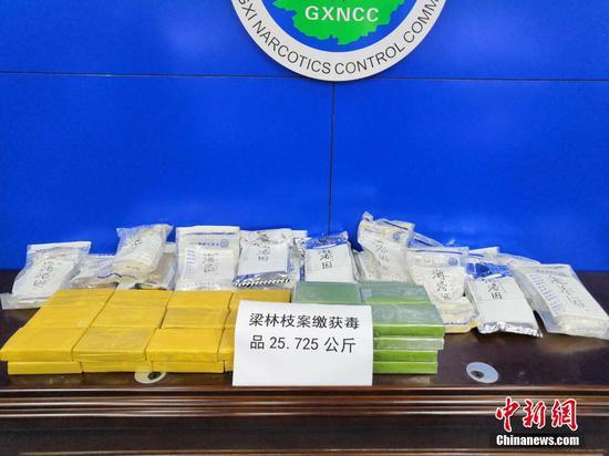 广西侦破跨省区毒品大案 缴获毒品海洛因25公斤