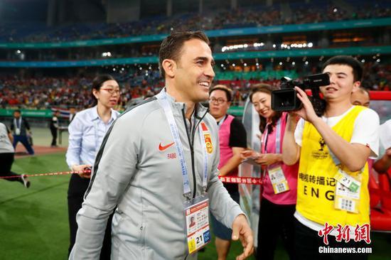 卡纳瓦罗首次率领中国男足亮相南宁
