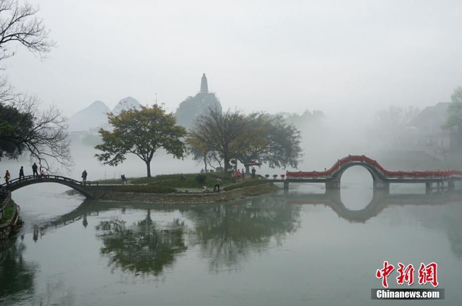 """宛如仙境 桂林现""""漓江烟雨""""美景"""