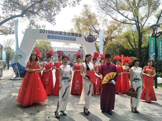 2019杭州茶文化博覽會暨西湖龍井開茶節活動。施杭攝