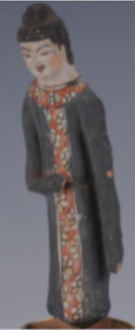 彩繪男立俑