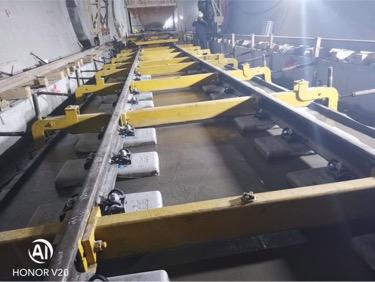 已浇筑完成的无砟道床试验段  中铁隧道局供股