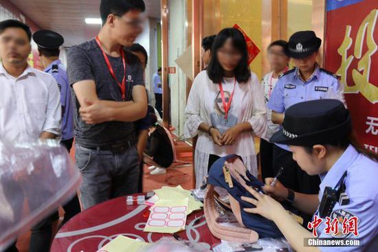 广西防城港警方突查售楼部 抓获涉传销人员350人