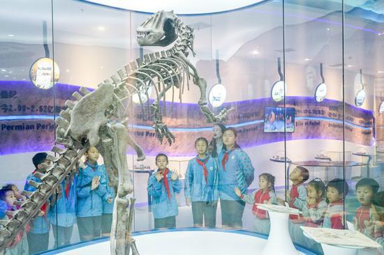 了解地球环境现状  浙江湖州青少年博物馆里