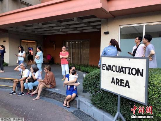 菲律宾北部三描礼示省6.1级地震马尼拉震感强5人亡