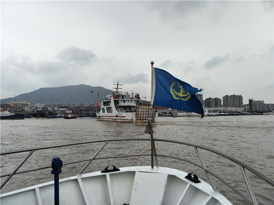 图为巡查现场。 宁波海事局提供