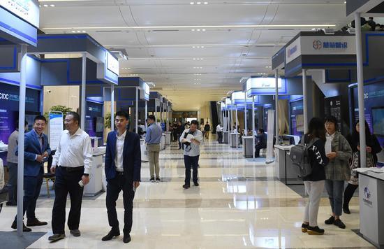 工業大數據展覽展示區。王剛攝