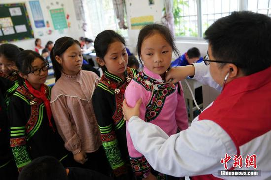 世界红十字日 中国红基会在广西百色开展先心病筛查救助