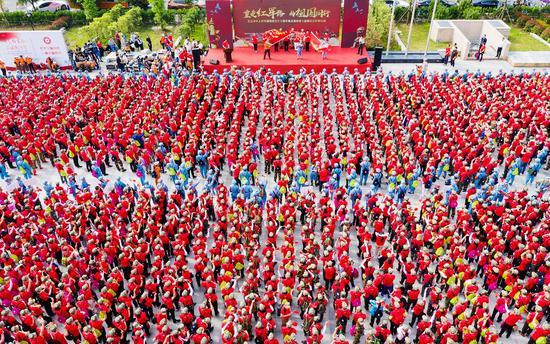 第十屆重走紅軍路活動開幕式現場。楊偉興攝