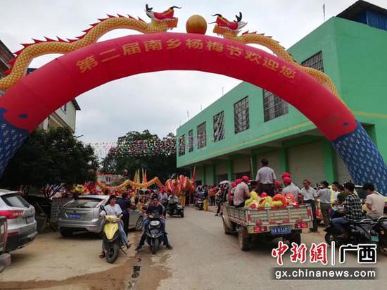 图为杨梅节现场。