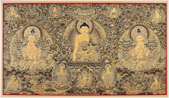 图为达杰大师的唐卡作品。(资料图)