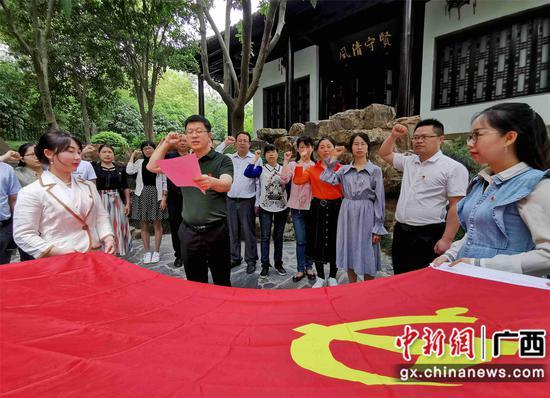 广西融安纪委监委和巡察办干部走进江苏廉政教育基地
