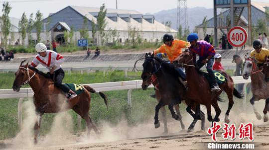 中國速度賽馬公開賽-庫爾勒站 新疆馬突顯耐力優勢